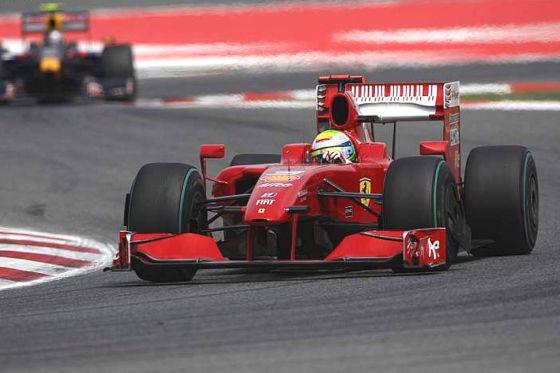 Formel 1 2009, GP von Monaco, Felipe Massa Ferrari vor Sebastian Vettel Red Bull