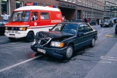 Unfall mit Airbag-Einsatz
