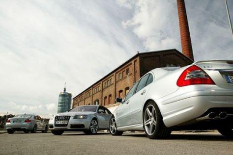 Test Audi S6 – BMW M5 – Mercedes E 63 AMG