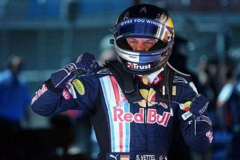 Zum dritten Mal in seiner Karriere sicherte sich Sebastian Vettel die Pole-Position