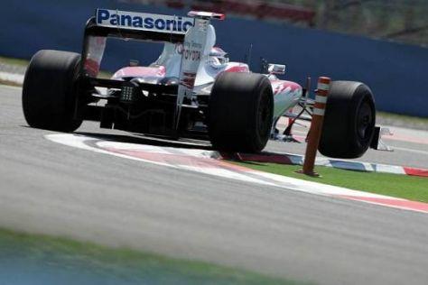 """Jarno Trulli """"hüpfte"""" mit seinem Toyota auf den fünften Startplatz"""