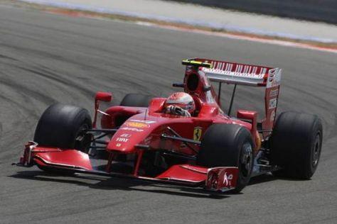 Kimi Räikkönen fühlte sich mit mehr Benzin an Bord nicht mehr ganz so wohl