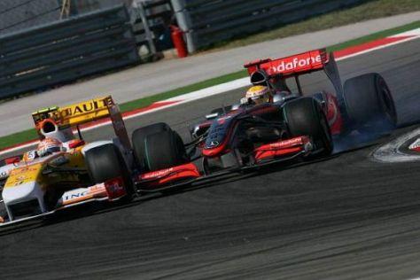 Lewis Hamilton konnte sich der Überrundung gerade so eben entziehen