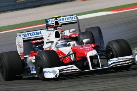 Jarno Trulli und Timo Glock sahen sich auf der Strecke nur selten