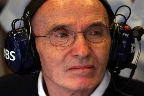 Frank Williams ist mit dem Team erst dann zufrieden, wenn es wieder Siege feiert...