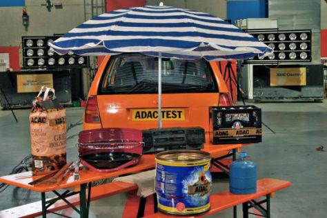 ADAC-Test Ladungssicherung 2009