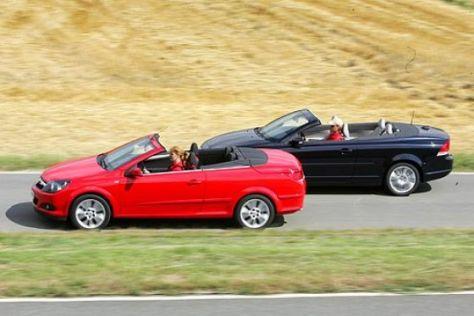 Test Volvo C70 gegen Opel Astra TwinTop