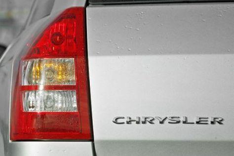 Arbeiter am Chrysler-Hauptquartier