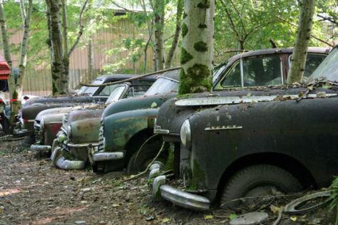 Der malerische Autofriedhof in der Schweiz hat noch bis zum Herbst 2009 Gnadenfrist.