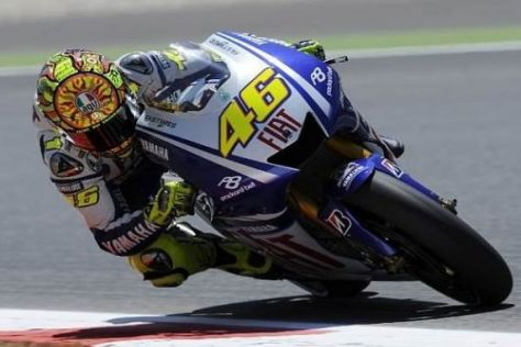 Valentino Rossi holte sich nach hartem Kampf den Sieg in Barcelona