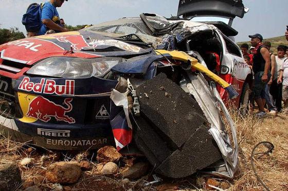 WRC Rallye Rallye Griechenland 2009, Der Citroën C4 WRC von Sébastien Loeb