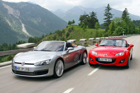 VW Concept BlueSport Mazda MX-5 2.0 MZR