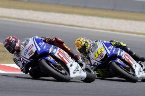Die beiden Yamaha-Piloten arbeiteten beim Test in vielen Bereichen
