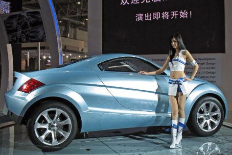 In China wuchs der Automarkt im Mai 2009 um 55 Prozent.
