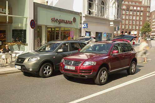 Hyundai hat aufgeholt: Beim Test schloss er punktgleich mit dem Touareg.