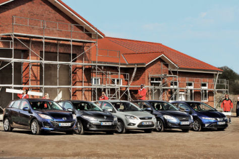 Mazda3, Renault Mégane, Ford Focus, Kia cee'd, Honda Civic