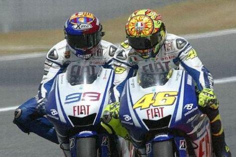 Kein Kuscheln, sondern Kampf: Jorge Lorenzo und Valentino Rossi im Duell