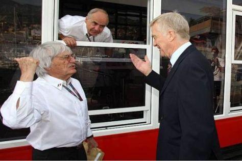 Besorgt: Bernie Ecclestone und Max Mosley könnten viel Geld verlieren