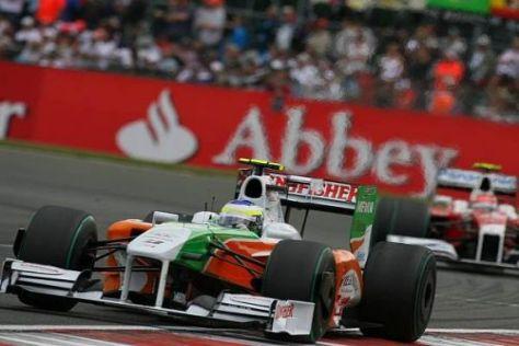 Giancarlo Fisichella drehte im Rennen die zehntschnellste Rennrunde