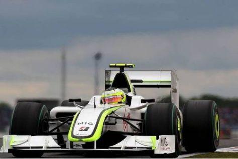 Zwar kein Sieg in Silverstone, aber immer noch in der Gesamtwertung vorne: Brawn