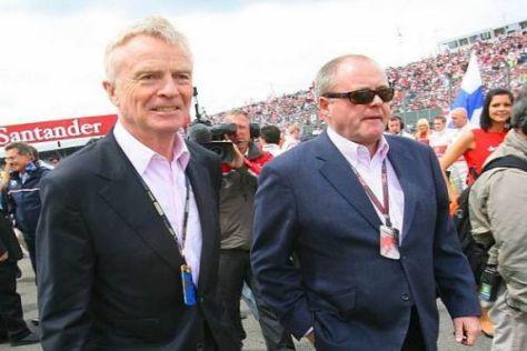 Die Herren im Anzug waren in Silverstone präsenter als die im Rennoverall