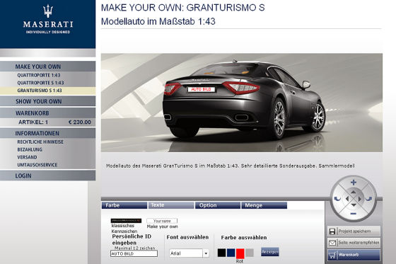 Maserati als Modell