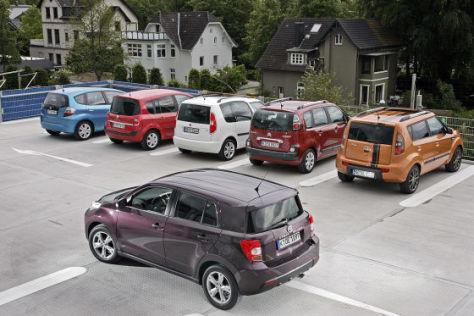 Toyota Urban Cruiser Honda Jazz Renault Grand Modus Skoda Roomster Citroën C3 Picasso Kia Soul