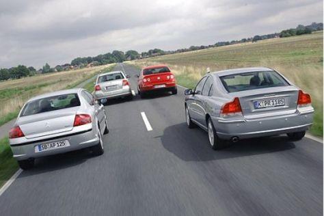 Test Passat, S60, 407, Avensis