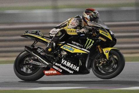 Edwards in Problemen: Die Yamaha verliert immer wieder die Bodenhaftung