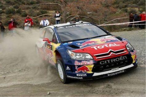 Sébastien Loeb holte sich gemeinsam mit Mikko Hirvonen die Bestzeit
