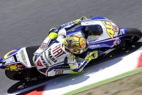 Valentino Rossi schrammte heute nur ganz knapp an der Bestzeit vorbei