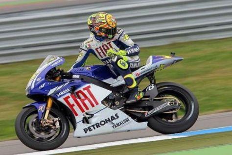 Wo sind die anderen? Valentino Rossi fuhr heute in seiner eigenen Liga...