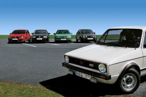 VW Golf V GTI VW Golf IV GTI VW Golf III GTI  VW Golf II GTI VW Golf I GTI
