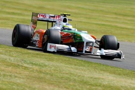 Giancarlo Fisichella und Force India zeigten in Silverstone einen Aufwärtstrend