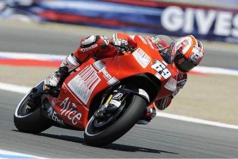 Nicky Hayden lieferte gestern sein bisher bestes Ducati-Qualifying ab