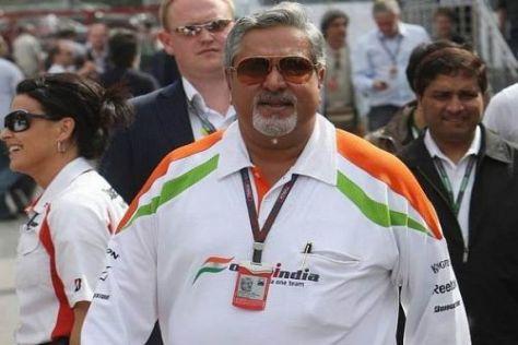 Teambesitzer Vijay Mallya sieht Force India auf dem richtigen Weg