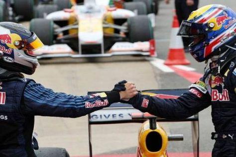 Sebastian Vettel und Mark Webber bereiten Christian Horner stets viel Freude...