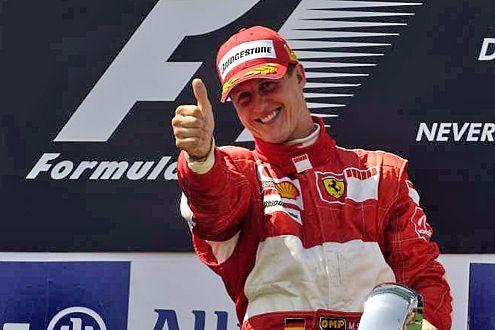 Hat gut lachen: Während bei Renault dicke Luft vorherrscht, freut sich Schumi schon auf das Rennen in Suzuka.