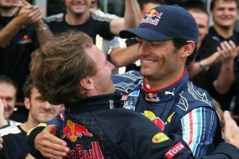 Gemeinsame Siegesfreude: Christian Horner und Mark Webber