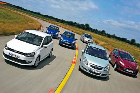 VW Polo Honda Jazz Hyundai i20 Renault Clio  Ford Fiesta Opel Corsa