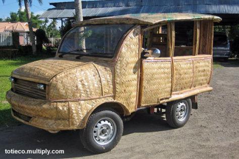 Bambus-Taxi