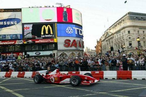 Vor fünf Jahren sorgte die Formel 1 in London für ein gewaltiges Spektakel