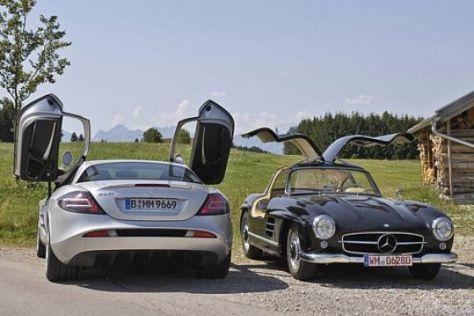 Mercedes 300 SL trifft SLR McLaren