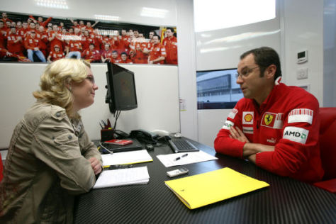Interview Formel 1 Ferrari Teamchef Stefano Domenicali