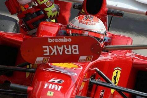 Kimi Räikkönens Vorwärtsdrang wurde in Deutschland wieder einmal gestoppt