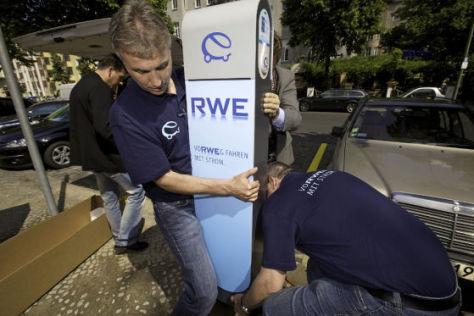 Strom-Tankstelle von RWE