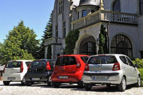 Opel Agila Nissan Pixo Daihatsu Cuore Peugeot 107