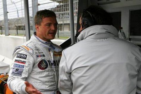 Falsch getimt: Ralf Schumacher mit HWA-Technikchef Gerhard ungar