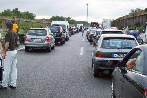 Vollsperrung auf der A2  Sonntag 19. Juli 2009