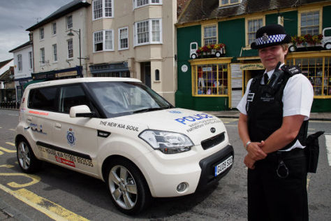 Kia Soul als Polizeiwagen